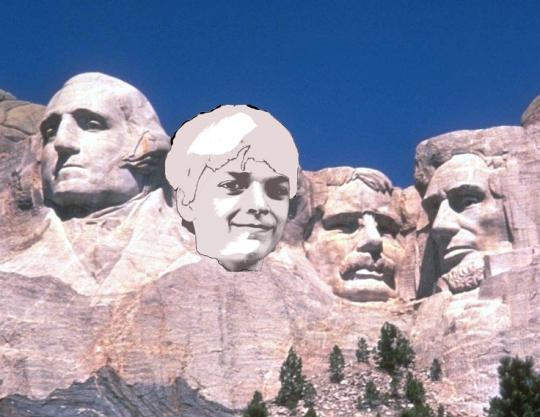 Mount Rushmore with Will as President